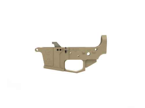 9mm Billet Aluminum Flat Dark Earth Stripped Lower Receiver