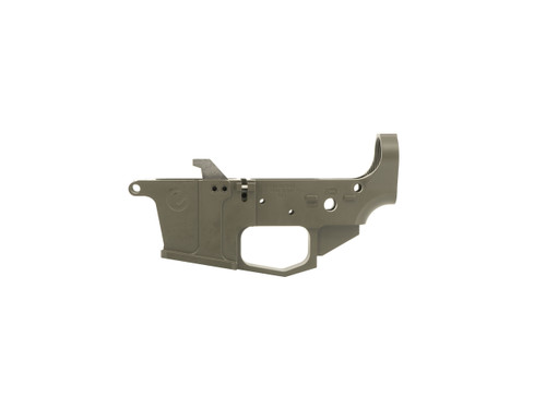 Glock Style 9mm Stripped Billet Lower Receiver Finished in OD Green