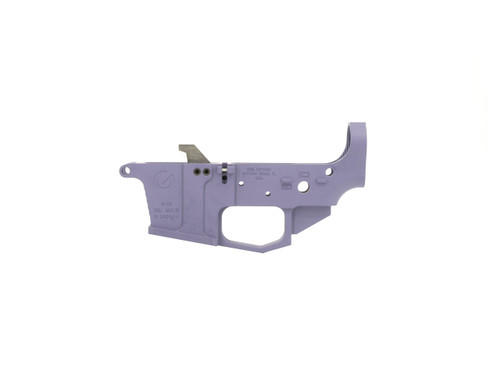 Glock Style 9mm Lower Receiver Machined from Billet Aluminum - Purple Cerakote
