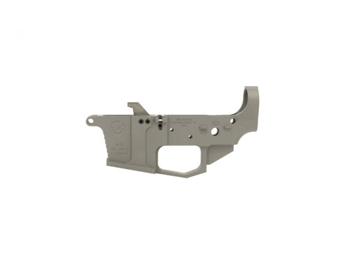 Tungsten Gray Glock Style 9mm Stripped Lower Receiver - Grid Defense