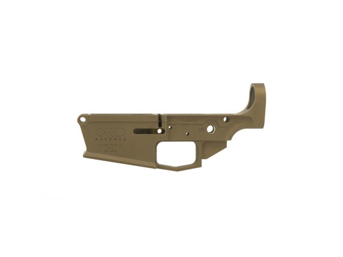 AR10 Stripped Lower Receiver DPMS Style in Burnt Bronze Cerakote