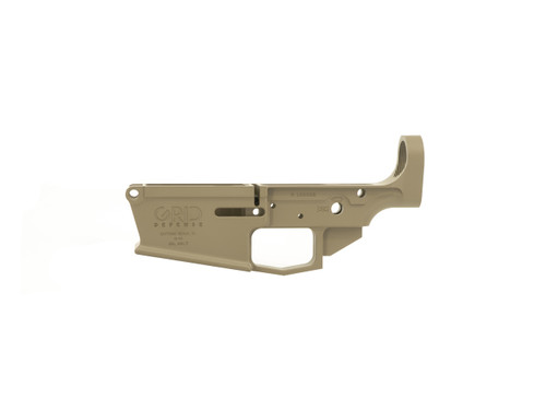 Magpul FDE DPMS Pattern Grid Defense AR 10 Stripped Lower Receiver