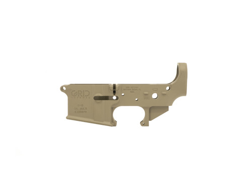 Magpul FDE AR15 Stripped Lower Receiver by Grid Defense