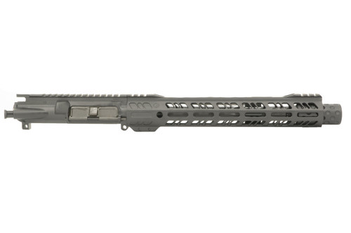 Black Anodized Pistol Upper Receiver Chambered in 5.56 NATO - Grid Defense