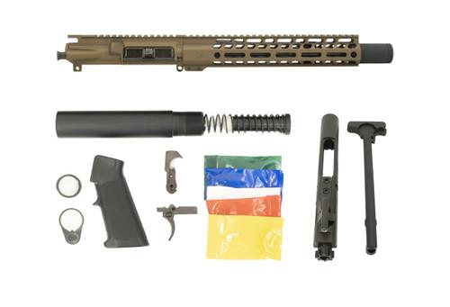 Burnt Bronze AR15 .300 Blackout Pistol Build Kit