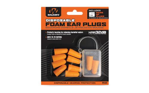 WALKER FOAM EAR PLUGS 5PK BLISTER