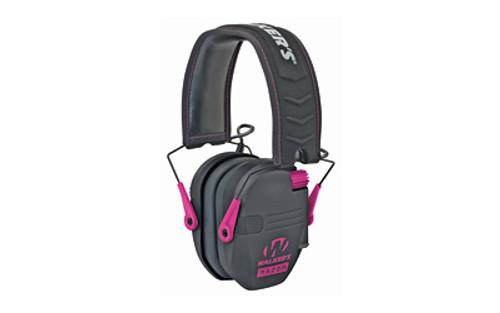 WALKER RAZOR SLIM ELECTRONIC EAR MUFF BLACK/PINK