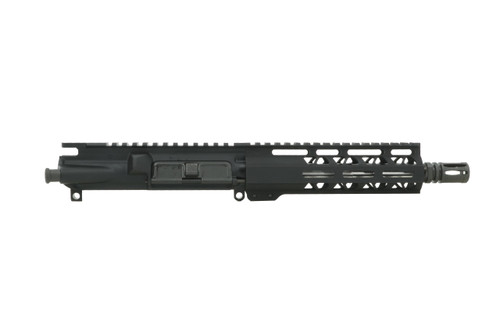"""STAINLESS STEEL 7.5"""" 9MM UPPER RECEIVER WITH 7"""" MLOK HAND GUARD"""