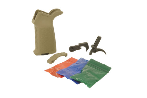 GHOST FIREARMS MIL-SPEC LOWER PARTS KIT WITH FDE MAGPUL MOE GRIP AND TRIGGER GUARD