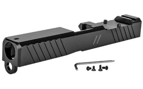 ZEV Technologies, Duty Stripped Slide w/ RMR Cut, For Glock 19 Gen 3 - Black Finish