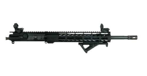 """ALWAYS ARMED 16"""" 5.56 NATO 1:7 MID LENGTH UPPER RECEIVER WITH 12"""" M-LOK RAIL, POP UP SIGHTS AND ANGLED FOREGRIP"""