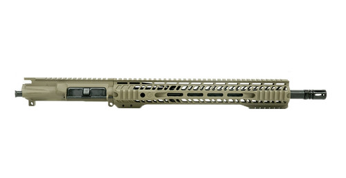 "Grid Defense 16"" 300 Blackout Quad Rail Upper Receiver - FDE"