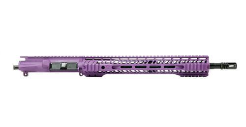 """Grid Defense 16"""" 5.56 Quad Rail Upper Receiver - Tactical Grape"""