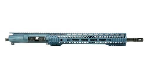 """Grid Defense 16"""" 5.56 Quad Rail Upper Receiver - Blue Titanium"""