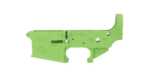 Grid Defense AR15 Stripped Lower Receiver - Zombie Green