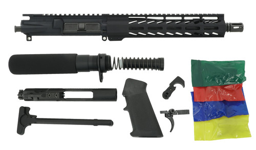 """ALWAYS ARMED 10.5"""" 5.56 NATO PISTOL KIT - BLACK ANODIZED"""