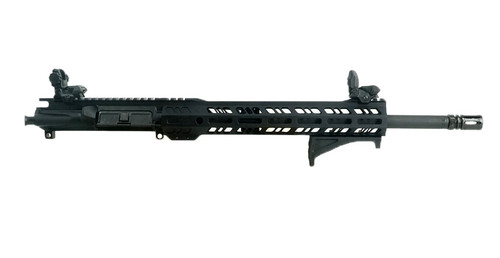 """GRID DEFENSE 16"""" .300 BLACKOUT UPPER RECEIVER WITH 12"""" RAIL, MAGPUL AFG AND TF SIGHTS"""