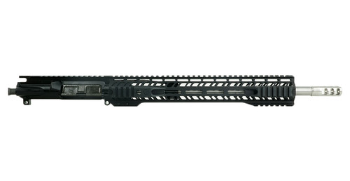 """Grid Defense 16"""" .300 Quad Rail Upper Receiver with Stainless Steel 1:8 Barrel and AXE Brake - Black"""