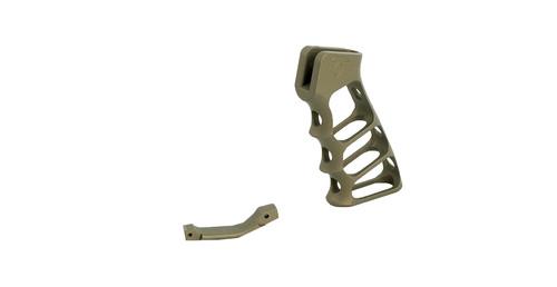 Skeletonized AR15 Pistol Grip and Matching Trigger Guard Combo   Burnt Bronze