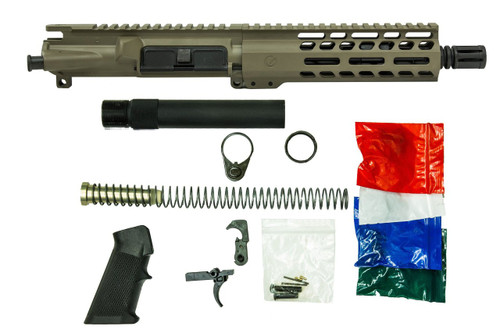 FDE 9x19mm AR9 Pistol Build Kit with LPK and Pistol Tube