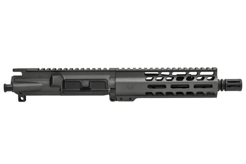 "Tungsten Gray 7.5"" 556 AR15 Pistol Upper Receiver"