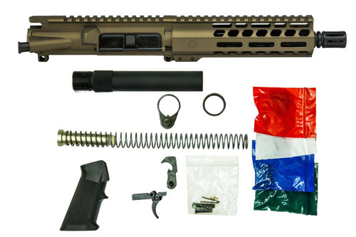 Burnt Bronze Cerakote AR9 Pistol Build Kit from Ghost Firearms