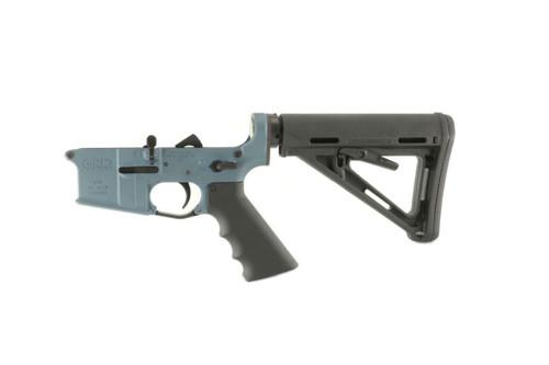 Mil Spec Grid Defense Blue Titanium Complete AR15 Rifle Lower Receiver .