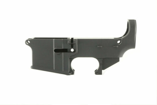 Ghost Firearms 80% Black Anodized AR15 lower receiver.  Machined from 7075-T6 forged aluminum.