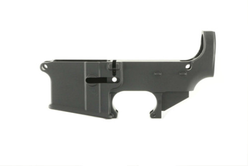 80% Black Anodized AR15 lower receiver.  Machined from 7075-T6 forged aluminum.