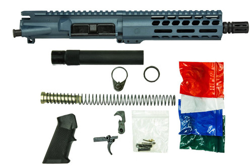 Blue AR-9 Pistol Build Kit with lower parts kit from Ghost Rifles