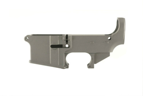 AR 15 80% Lower Receiver in Tungsten Gray by Ghost Firearms