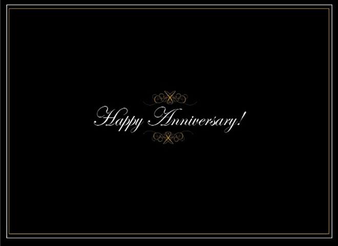 A1401 - Black & Gold Anniversary