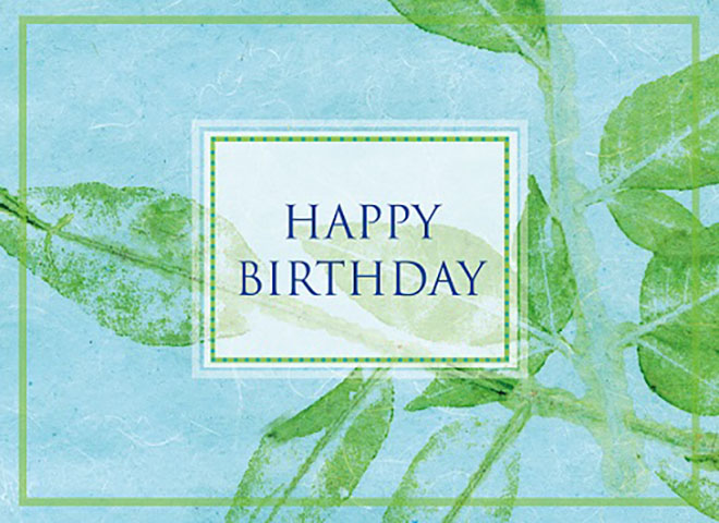 B1205 - Birthday Leaf