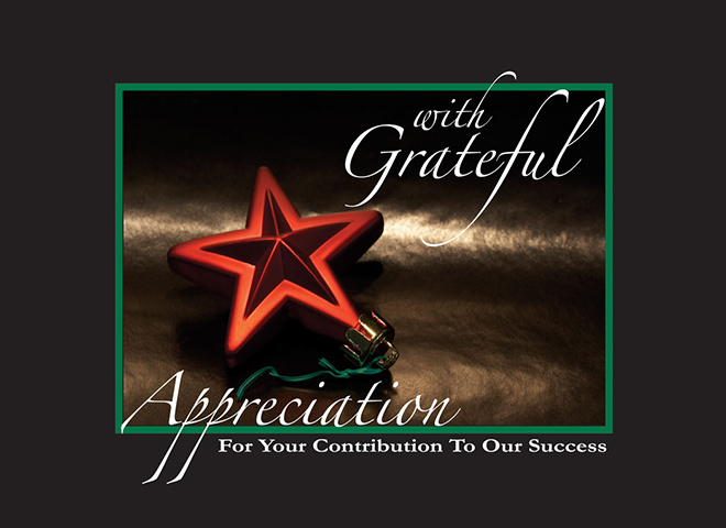 H6024 - Holiday Red Star of Thanks