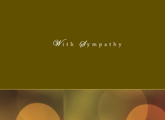 S9003 - With Sympathy