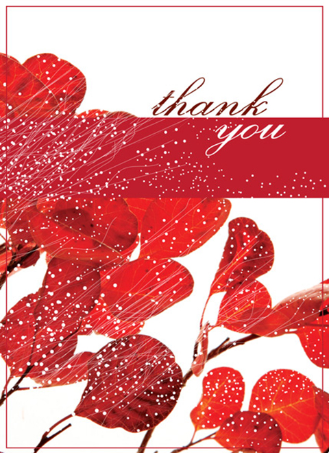 T1202 - Red Floral Thank You