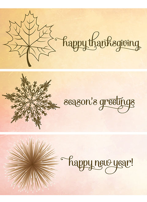 TH1512 - Holiday Watercolor Messages