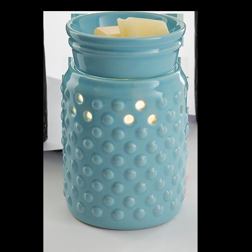 Blue Hobnail Illuminating Wax Melter