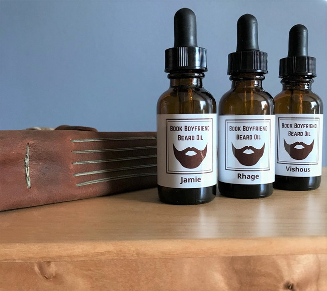 Book Boyfriend Beard Oil with Jamie, Roger, Vishous and Rhage