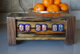Black Limba in12-   Panel mounted 6 bulb nixie clock