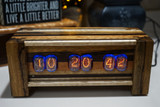Composite  in12-   Panel mounted 6 bulb nixie clock