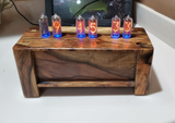Pistachio in8-   Vertical mounted 6 bulb nixie clock