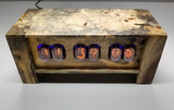 California Buckeye Burl in12-   Panel mounted 6 bulb nixie clock
