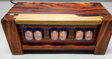 Premium Cocobolo in12-   Panel mounted 6 bulb nixie clock