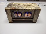California Buckeye Burl  Panel mounted 4 bulb nixie clock