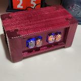 purpleheart in-12  4 bulb nixie tube clock