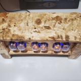 Sugar Maple  IN12 Vertical mounted 6 bulb nixie clock