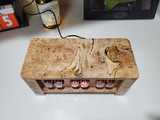 Spalted Maple Burl  IN12 Panel Mount  6 bulb nixie clock