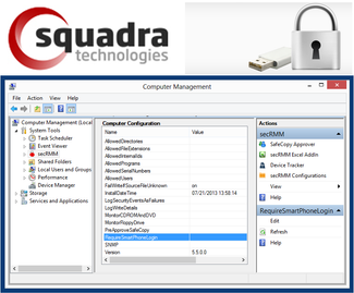 Squadra Removable Media Security Software for Windows