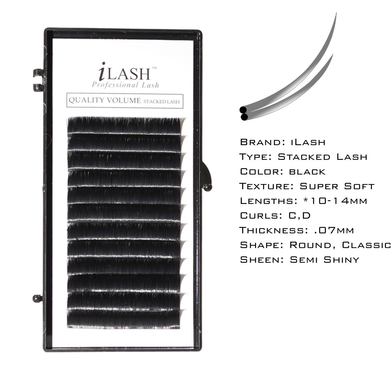 c484e59b2be iLash Stacked Lash - Individual Length Tray - iLashstore.com
